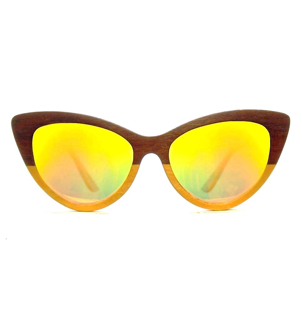 Ξύλινα Γυαλιά Rita in Etimoe and Yellow Tulip