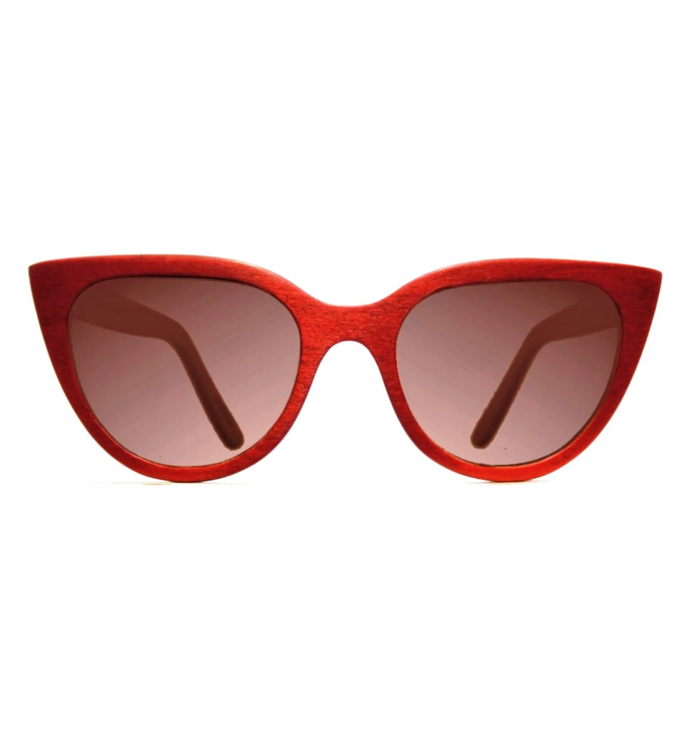 Ξύλινα Γυαλιά Alicia in Red Tulip