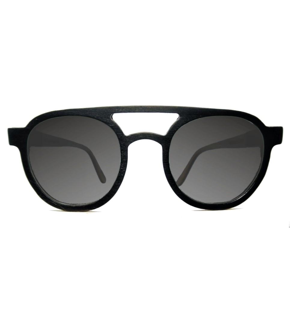 Ξύλινα Γυαλιά Kevin in Black Tulip