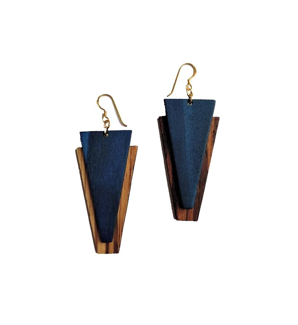Deriva in Zebrano and Blue
