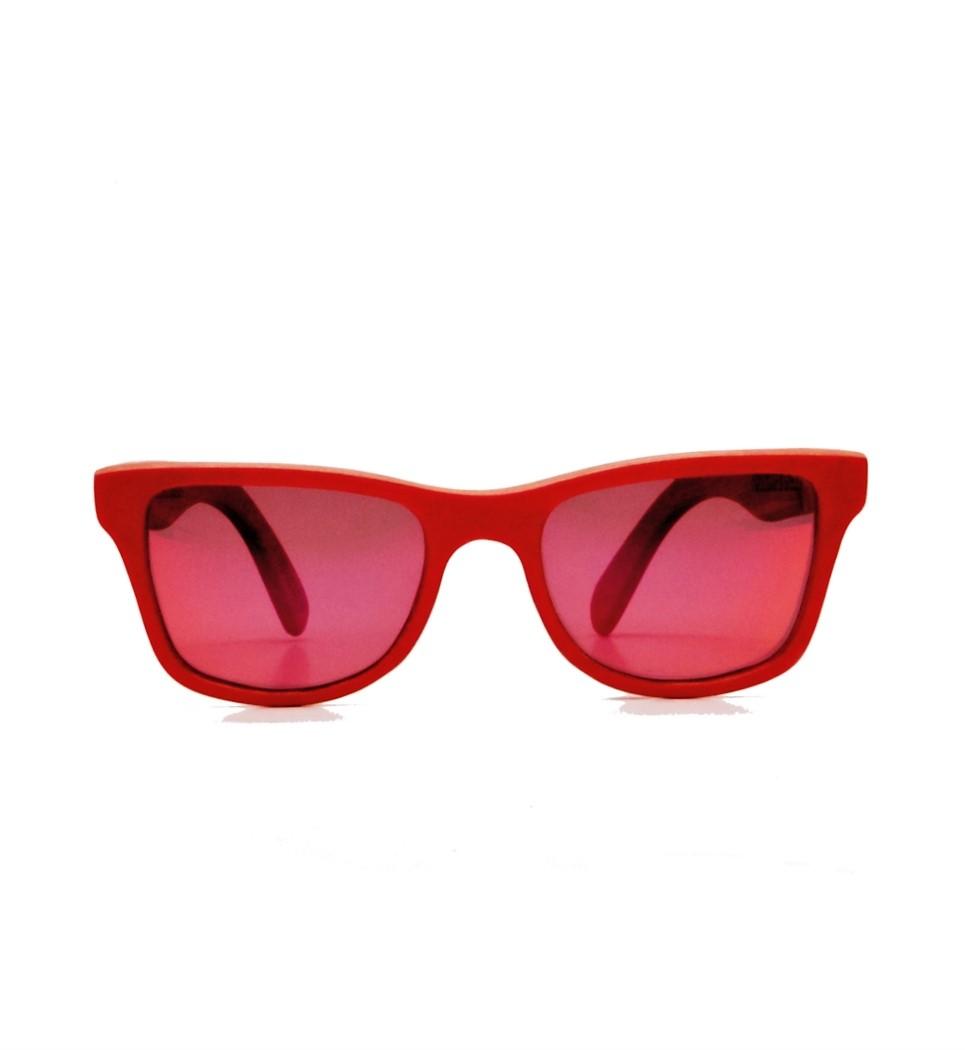 Ξύλινα Γυαλιά Gandy in Red Tulip