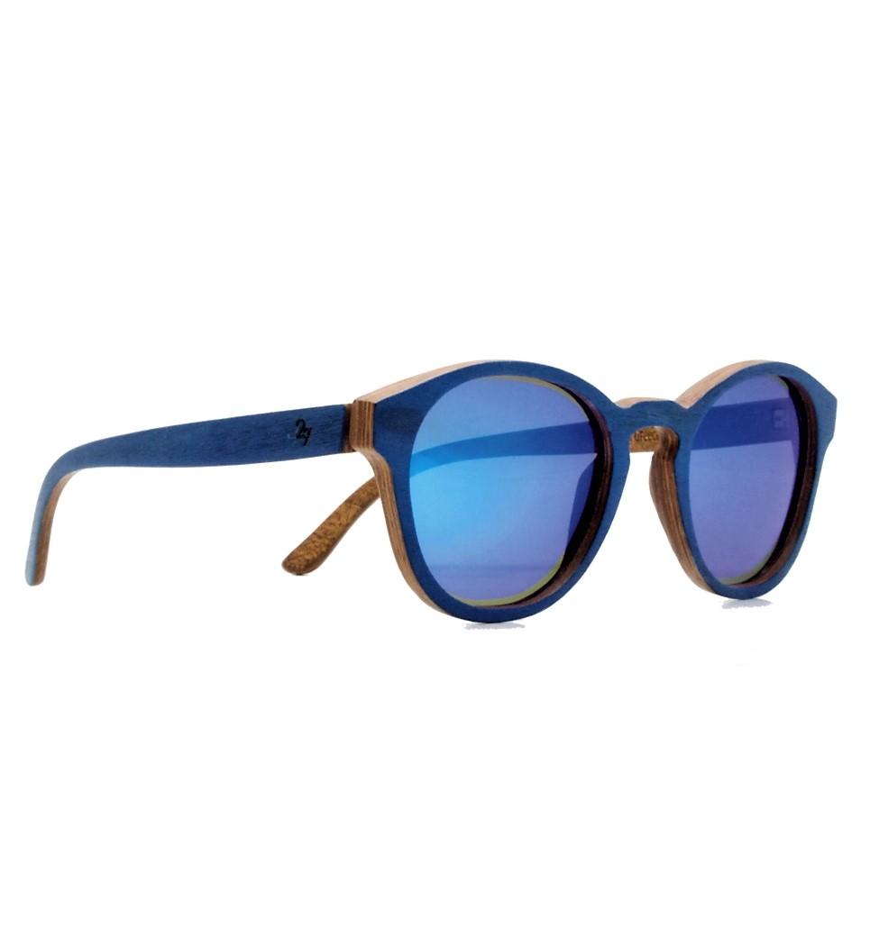 Ξύλινα Γυαλιά Louis in Blue Tulip